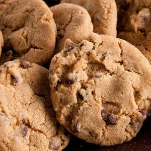 Receta vegana de las galletas de viruta de chocolat