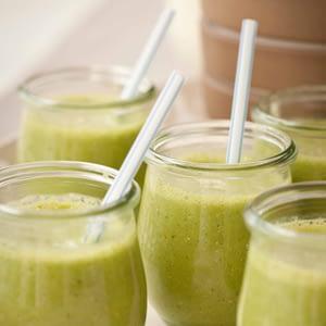 Smoothies de la mañana verd