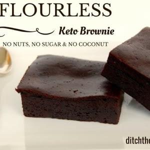 Recetas de Keto Brownie sin Harina