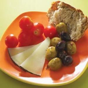 Merienda mediterránea de picnic