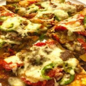 Baja en carbohidratos Keto corteza menos pizza