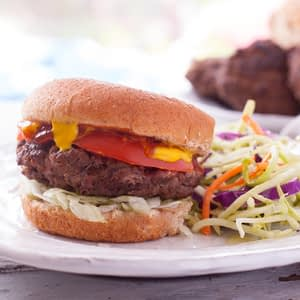 Weight Watchers jugosas hamburguesas