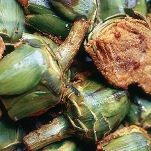 Mitades De Alcachofas Rellenas Con Carne De Res