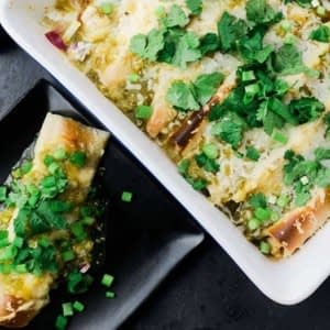 Enchiladas de gallo y calabaza sin gluten
