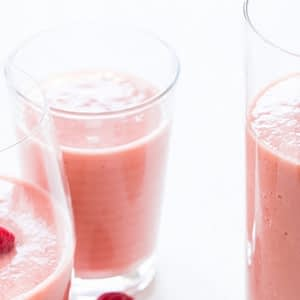 Raspberry Papaya Smoothies recetas