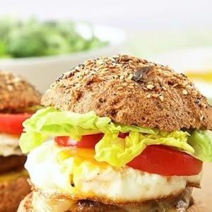 Recetas vegetarianas de hamburguesas Keto