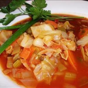 Sopa de repollo diagrama de alimentos Sopa de repollo