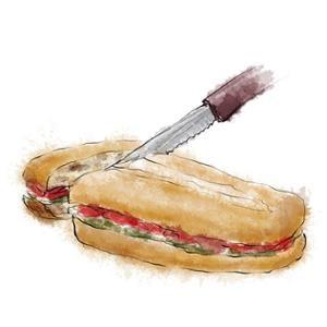 Sandwich Prensado Mediterraneo