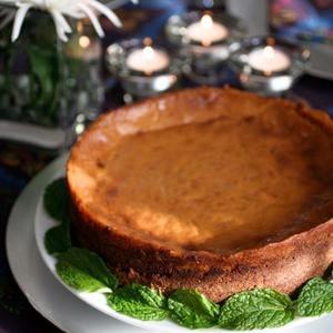 Receta de pastel de queso de calabaza vegana sin gluten