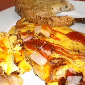 Brote del mar del sur Plan de alimentos Tortilla de jamón pegajoso