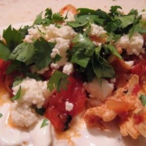 Tacos De Gallina Con Chipotl