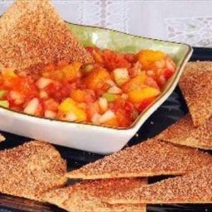 Chips de canela crujientes bajos en carbohidratos